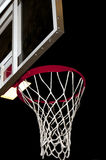 Basketball Goal. A basketball goal wating for a game to start stock photos