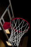Basketball Goal. A basketball goal waiting for a game to start royalty free stock photo