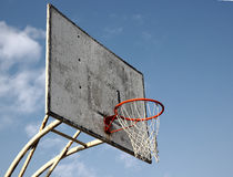 Basketball Goal. On a blue sky stock photos