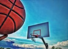 Basketball and goal Stock Photos