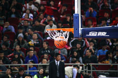 The basketball goal. 2013-2014 CBA all star game was carried out in Beijing Stock Images