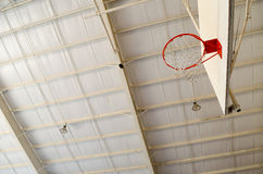Basketball Goal. A looking up perspective of a basketball goal and hoop royalty free stock photography