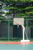 Basketball goal posts. In the school royalty free stock images