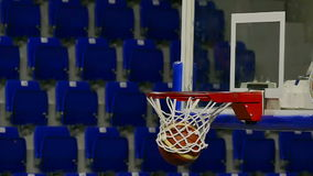 Basketball Going Through The Net stock footage