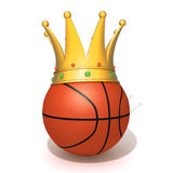 Basketball gold crown. 3d illustration   over white background Stock Image