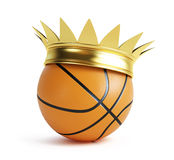 Basketball gold grow. On a white background Royalty Free Stock Photos