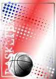 Basketball golden poster background 2 Stock Images