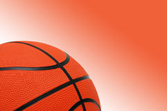 Basketball on the gradient. Orange background Stock Photos