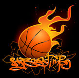 Basketball graffiti image Royalty Free Stock Image