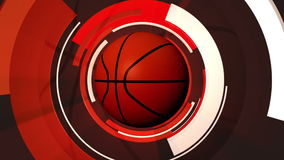 Basketball Graphic Animation stock video footage