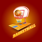 Basketball. Graphics and banner for  sport Royalty Free Stock Images