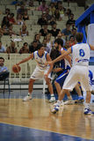 Basketball, Greece vs Serbia, Diamantidis Royalty Free Stock Photos