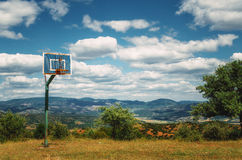 Basketball ground at the monastery of Meteora Royalty Free Stock Photo
