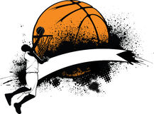 Basketball Grunge Banner Royalty Free Stock Images