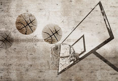 Basketball Grunge Stock Photography