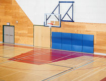 Basketball gymnasium in the school Stock Images
