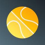 Basketball halftone stylized illustration Stock Image