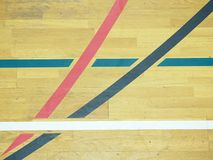 Basketball hall indoor wood parquet field room. Empty hall Royalty Free Stock Photography