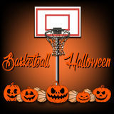 Basketball and Halloween Royalty Free Stock Images