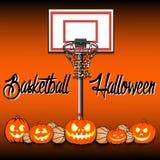 Basketball and Halloween Royalty Free Stock Photos