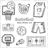 Basketball. Hand drawn doodle set. Sketches. Vector illustration for design and packages product. Basketball Hand drawn doodle set. Vector illustration vector illustration