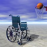 Basketball for handicapped - 3D render Royalty Free Stock Image