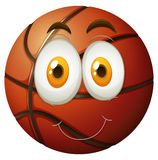 Basketball with happy face Stock Image