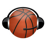 Basketball headphone sign Stock Image