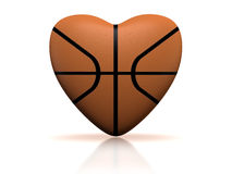 Basketball heart Stock Photography