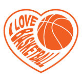 Basketball in heart 4 Royalty Free Stock Photography