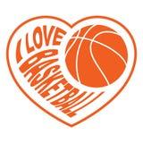 Basketball in Herzen 4 Lizenzfreie Stockfotografie