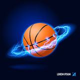 Basketball high voltage Royalty Free Stock Photo