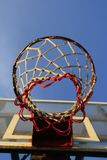 Basketball hook with blue sky Royalty Free Stock Images