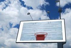 Basketball hoop. On empty billboard in sky Royalty Free Stock Photos