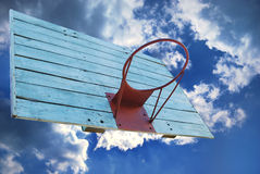 Basketball hoop. Without net in grunge style Stock Photo
