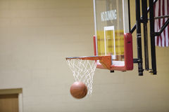 Basketball and hoop Stock Photos