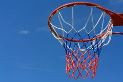 Basketball hoop. Over blue sky Royalty Free Stock Photography