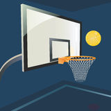 Basketball hoop. Royalty Free Stock Image