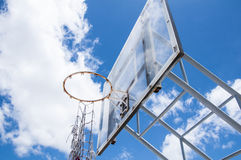 Basketball hoop. Against the blue sky Stock Image