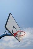 Basketball hoop. Street basketball under clear blue sky Royalty Free Stock Photography