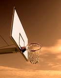 Basketball Hoop. New basketball hoop against sky royalty free stock photo