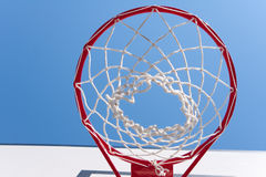 Basketball hoop. On the blue sky Royalty Free Stock Images