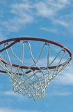 Basketball hoop. Isolated against blue sky Royalty Free Stock Images