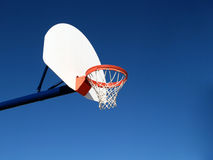 Basketball hoop. Outdoors basketball hoop on a clear day Royalty Free Stock Photography
