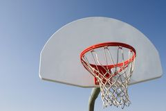 Basketball Hoop. With sky background Stock Images