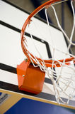 Basketball hoop. A basketball hoop in an International sport venue. Possible venue for the 2016 Olympic Games. Shallow DOF stock photos