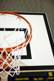 Basketball hoop. A basketball hoop in an International sport venue. Possible venue for the 2016 Olympic Games. Shallow DOF stock image