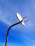 Basketball Hoop. An old basketball hoop against the sky Royalty Free Stock Photography