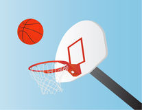 Basketball and Hoop Royalty Free Stock Image