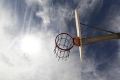 Basketball hoop royalty free stock photography